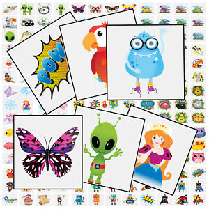 12 Super Hero Temporary Tattoos Transfers Birthday Party Bag Fillers For Kids