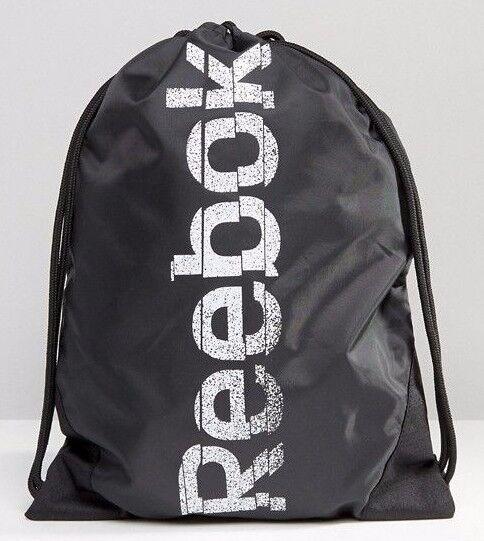 Buy Reebok SE Drawstring Gym Bag Sack Rucksack Backpack Black online ... 8931f7fd6ceae