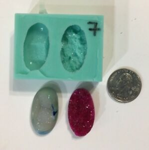 #66 Silicone Druzy Mold   Crystal Quartz Rock Cluster Geode Gem Resin