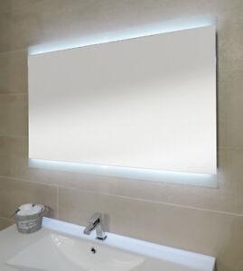 Specchiera specchio filo lucido bagno retroilluminato led design ebay - Specchio retroilluminato bagno ...