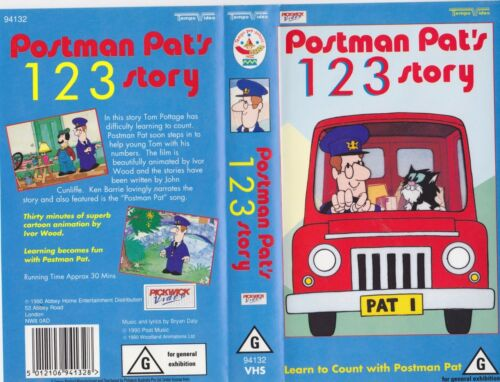 POSTMAN PAT 1,2,3 STORY VHS PAL VIDEO RARE