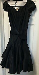DVF-Diane-von-Furstenberg-Silk-Black-Wrap-Dress-Sz-6-590
