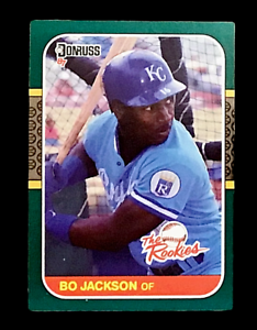 Bo Jackson 1987 Donruss The Rookies Baseball Card #14 KC Royals Near Mint-Mint