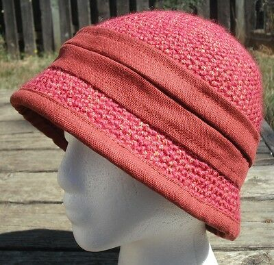 One of a Kind Girls' Dark Red Crocheted Cloche Hat - Handmade by Michaela