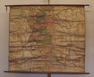 Details about alte Schulwandkarte~1920 1800-1815 Deutschland mit Napoleon  186x163 bis Waterloo