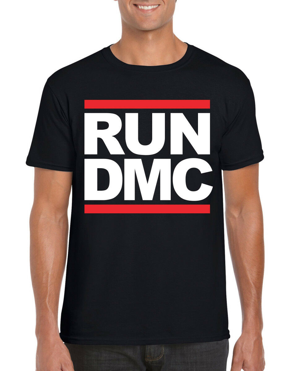Mens Adidas Originals Run Dmc Official White Logo Tee T Shirt Xs Z91235 Kids For Sale Online Ebay