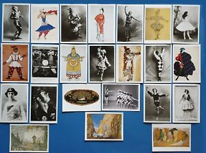 Lovely-Set-of-24-New-Postcards-Ballet-Dance-Diaghilev-Ballets-Russes-Ballerinas
