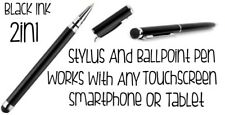 Stylus & Ballpoint Pen 2in1 Works With Any Touch Screen Smartphone Or Tablet New