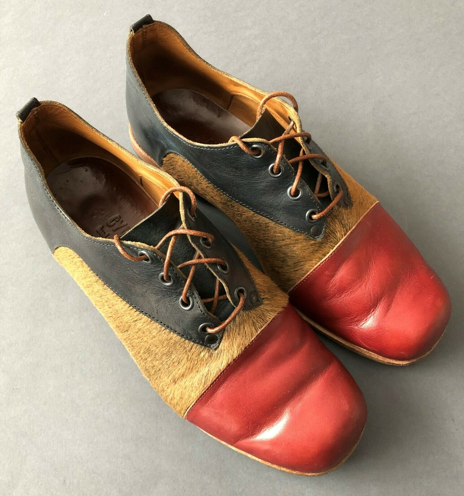RARE CYDWOQ Men's Leather Shoes Size 42 1/2 Hand Made in USA