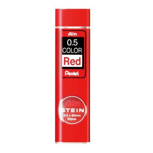 Pentel Ain Stein Mechanical Pencil Lead 0.5mm Red 20 Leads C275-RD