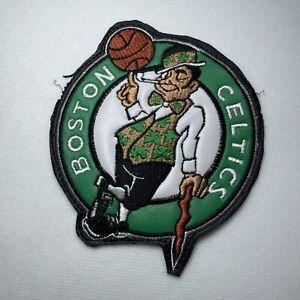 "Boston Celtics NBA Basketball Sew On 5.5"" Patch Embroidered Leatherette Logo"