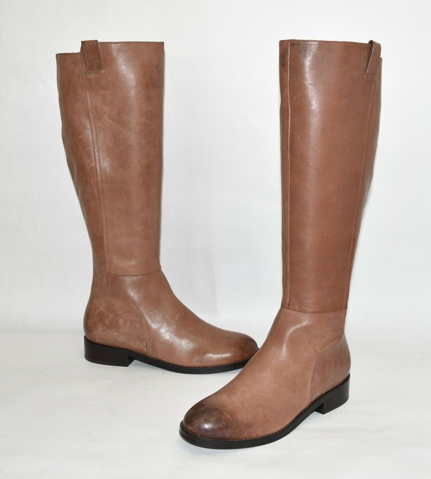 New! Cole Haan Katrina Riding Boot Brown Leather Size 6.5 B w11075