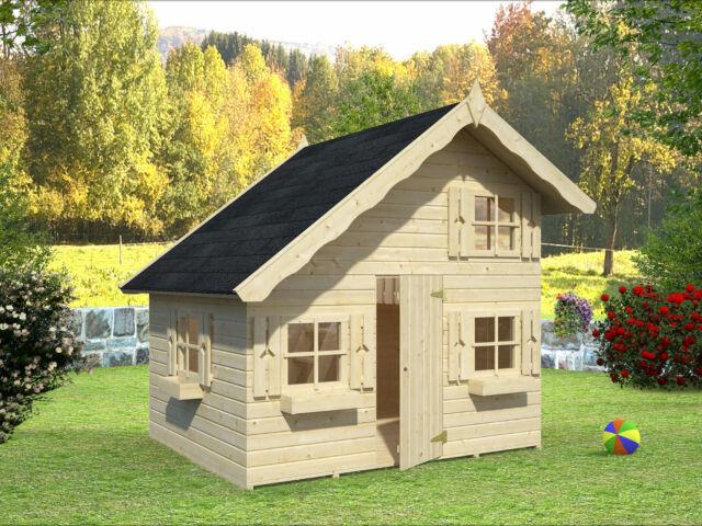 Kinderspielhaus TOM TÜV geprüft Kinderhaus Holz Haus Kinder Holzhaus Gartenhaus