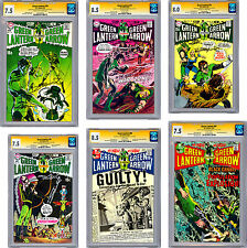 GREEN LANTERN #76-89 CGC-SS VF-NM *ALL 14 SIGNED NEAL ADAMS & DENNY O'NEIL* 1970