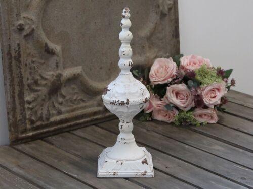 Décor en Fer Antique Blanc Hauteur env. 38 cm, 30862, shabby Chic Antique Franz
