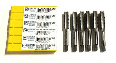Marxman 1//4-28 Carbon Hand Tap Taper 4 Flute USA Made 6 Pack 82263