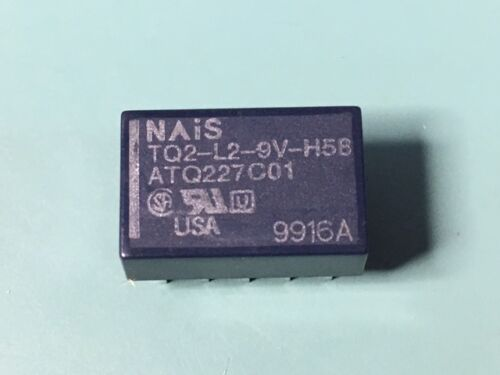 50 NEW NAIS TQ2-L2-9V-H58 2 FORM C LOW PROFILE RELAY LOT OF