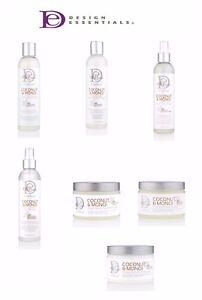 Design Essentials Natural Coconut Monoi Full Range Ebay