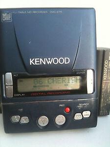 Kenwood-DMC-E7R-MiniDisc-Recorder-Player-portable-minidisc-MD-with-Battery