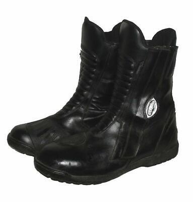 """""""modeka"""" Uomo-moto Stivali/stivali/stivali In Nero In Circa 44,5/45-l / Boots / Stiefel In Schwarz In Ca. 44,5/45 It-it Mostra Il Titolo Originale"""