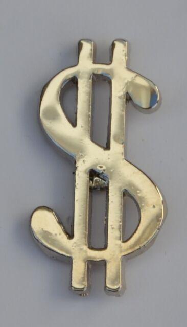 Chrome Dollar Sign Quality Enamel Pin Badge