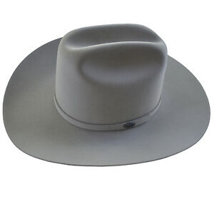 571dfe68bf9 Stetson Cowboy Hat 6X Beaver Fur Mist Grey Ruidoso Size 6 3 4