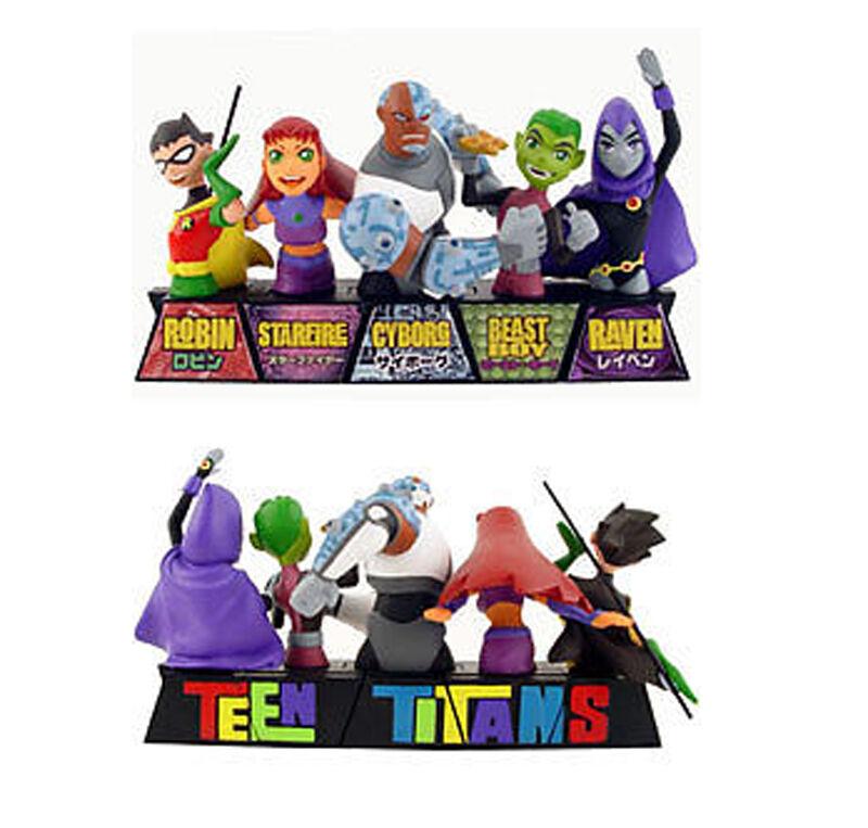 DC Comics TEEN TITANS mini bust 6   figure statue Full Set , JLA, Bathomme  livraison directe et rapide