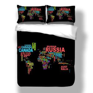 World Map Sheet Set.3d World Map Bedding Set Duvet Cover Quilt Comforter Cover Pillow