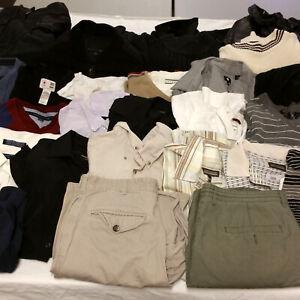 Mens-Medium-Clothes-Huge-Lot-29-Pcs-Mixed-Clothing-Columbia-Bench-Tommy-Hilfiger