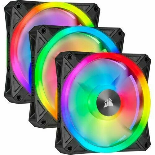 icue ql120 rgb pwm fans 120mm triple