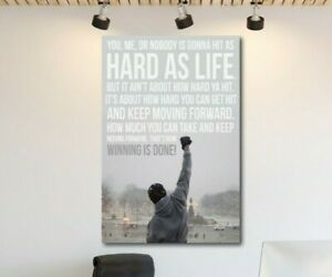 ROCKY-BALBOA-QUOTE-CANVAS-WALL-ART-FRAMED-PICTURE-PRINT-BOXING