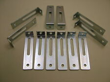 "Pack of 12 adjustable kitchen unit cabinet fixing ""L"" brackets 76 x 18 x 15mm"
