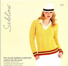 The Fourth Sublime Cashmere Merino Silk DK Book 652 - 12 Designs for Men & Women