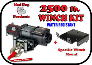 2500lb Mad Dog Synthetic Winch//Mount Kit for 2008-2021 Suzuki King Quad 400