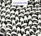 50 Ea STERLING SILVER 3x5mm Brite Oval Beads