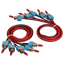 10x Spst Toggle Switch Pre Wired Onoff Metal Small Automotiveboatcartruck