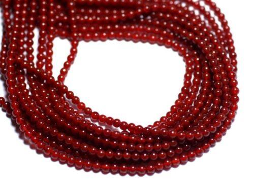 40pc Perles de Pierre 8741140007673 Cornaline Boules 2mm