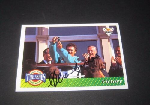 Allan Border Australia signed Cricket Card Ashes Victory + COA Proof
