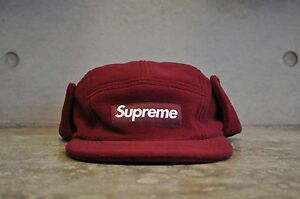 b18142f00c1 Image is loading Supreme-Polartec-Fleece-Earflap-Burgundy-Box-Logo-Camp-