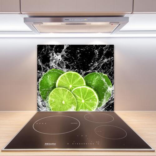 FORNELLO-Mascherina vetro Ceranfeld-Copertura Decorazione LIMETTE acqua 60x52 cm