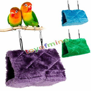 Pet Products Home & Garden Bird Parrot Plush Hammock Cage Snuggle Happy Hut Tent Bed Bunk Toy Hanging Cave