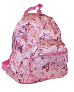 Image is loading Girls-Kids-Ballet-Ballerina-Shoes-Toddler-Backpack-Mini- 0578cba0b798b