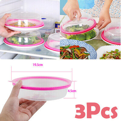 5pcs PlateTopper Universal Leftover Lid Microwave Cover Airtight keep food fresh