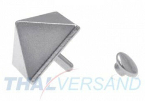 100 unidades pyramidennieten 10mm x 5mm remaches decorativos motivo tachuelas zierniete motivniete