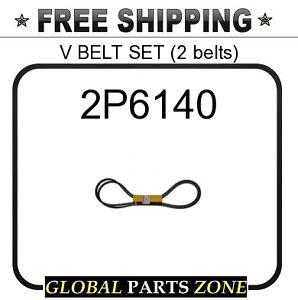 CAT 7M4711 2 belts VEE BELT SET fit CATERPILLAR