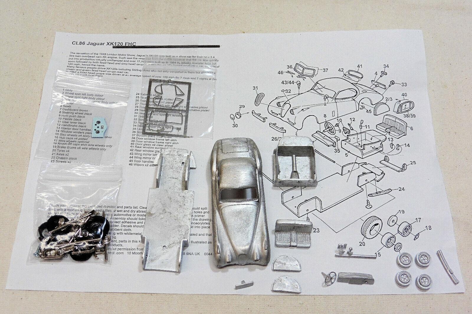 1 43 CL86K Jaguar XK120 FHC KIT  BY SMTS