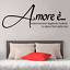 miniature 1 - Adesivo Amore è  stickers murale stanza da letto famiglia decalcomania camera