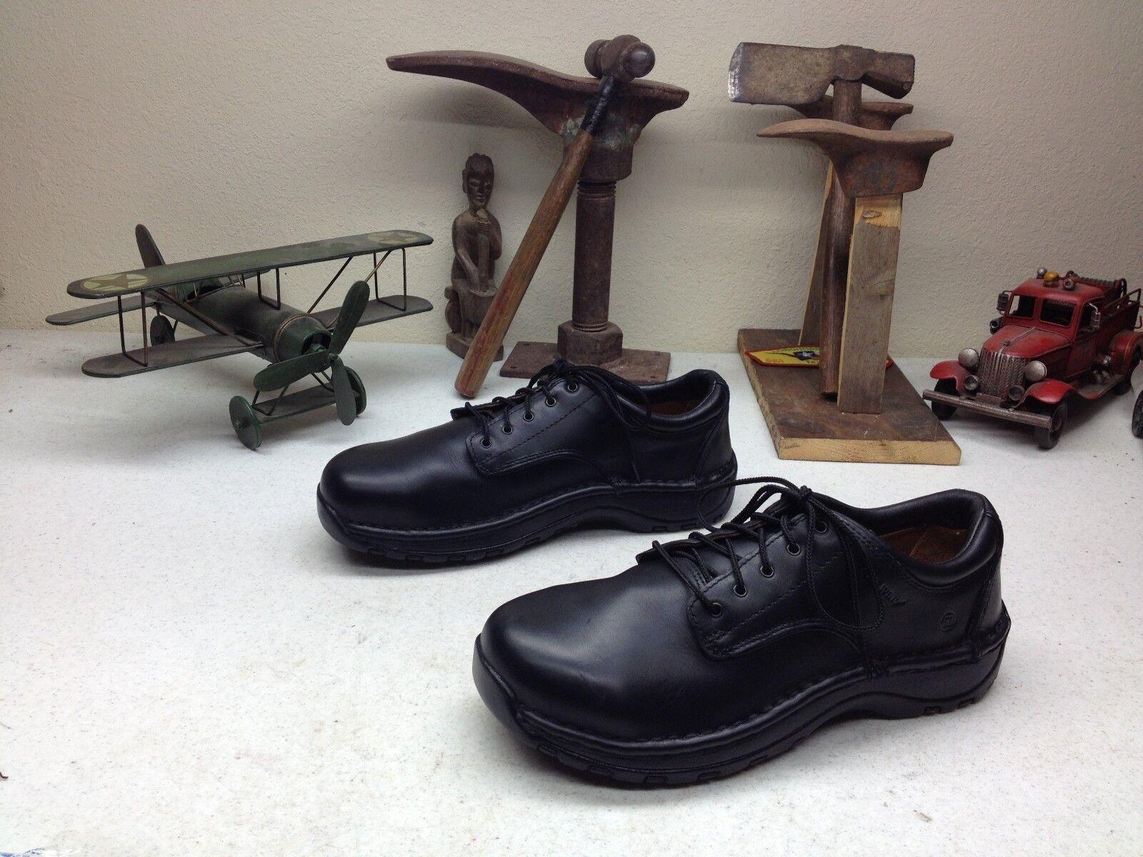 Lace Up Puntera De Acero Ala Roja De Cuero Negro Ingeniero Packer zapatos de trabajo 8d