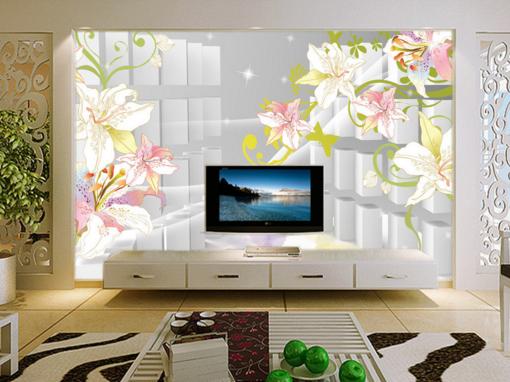 3D Starlight  Lily 75 Wall Paper Murals Wall Print Wall Wallpaper Mural AU Kyra