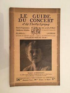 El Guía de La Concierto Y Las Teatro Letra Sigrid Schnéevoigt N º 1 1929